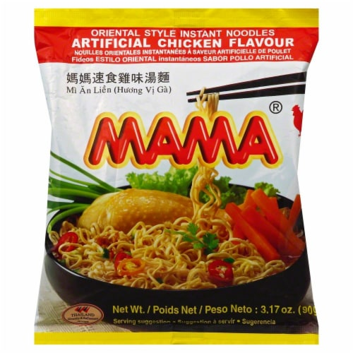 Mama Chicken Flavour Instant Noodle Soup Perspective: front
