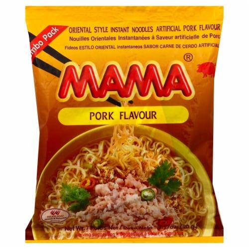Mama Pork Flavored Ramen Perspective: front