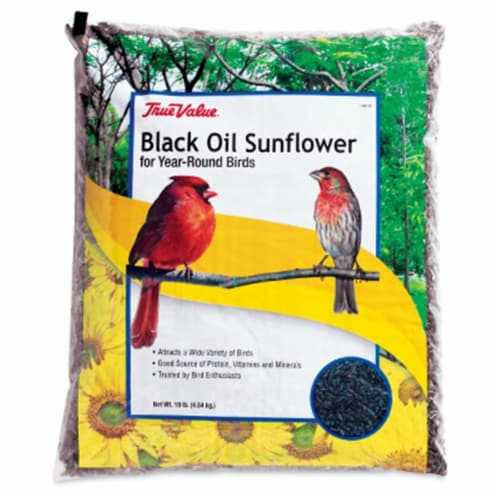 JRK Seed & Turf Supply 106118 True value 10 lbs Sunflower Bird Seed Perspective: front