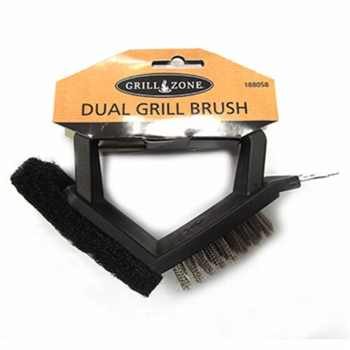 Blue Rhino 00338TV Barbecue Brush & Pad, Steel Bristles Perspective: front