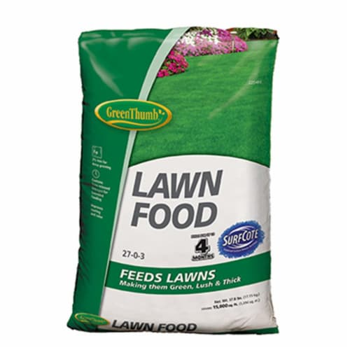 Knox Fertilizer 225480 15000 sq ft. Green Thumb Coverage, 27-0-3 Lawn Food Perspective: front