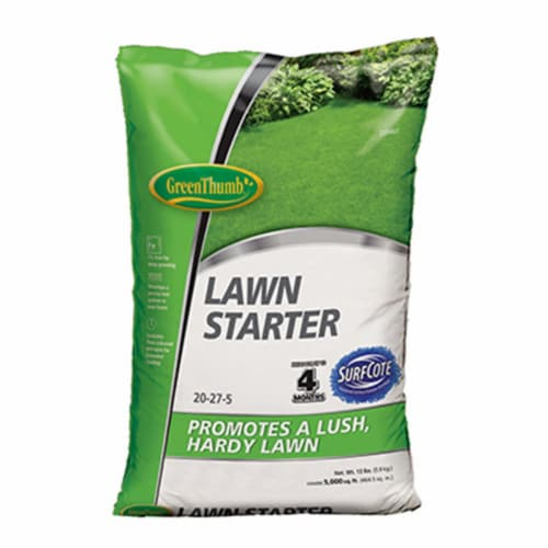 Knox Fertilizer 225493 5000 sq ft. Green Thumb Coverage, 20-27-5 Lawn Starter for New Lawns Perspective: front