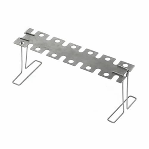 Mr. Bar-B-Q Products 257100 Grill Zone Jr. EZ Legs & Wings Rack, Brushed Silver Perspective: front