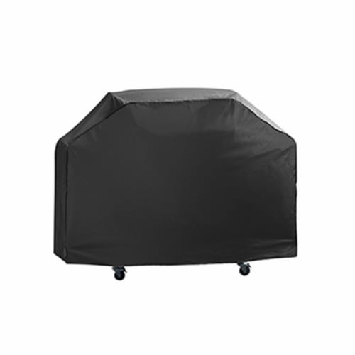 Mr. Bar-B-Q Products 257126 Grill Zone Premium Grill Cover, Black - Medium Perspective: front