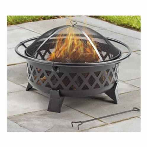 Shinerich Industrial 258362 35 in. Four Seasons Courtyard Round Fire Pit Perspective: front