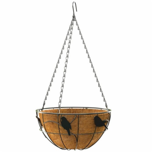 Panacea Products 261888 14 in. Green Thumb Bird Hanging Basket - Pack of 6 Perspective: front