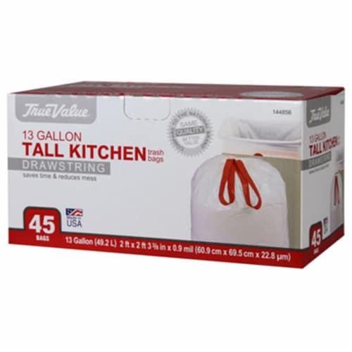 Berry Plastics 144856 True Value 13 Gallon Kitchen Bag - 45 Count Perspective: front