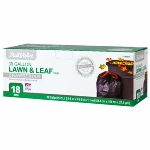Berry Plastics 144859 True Value 39 Gallon Leaf Bag - 18 Count Perspective: front