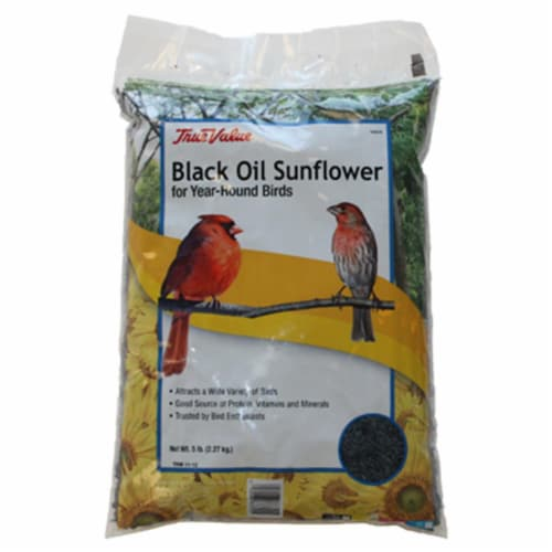 JRK Seed & Turf Supply 164628 True Value 5 lbs Sunflower Bird Seed, Black Perspective: front