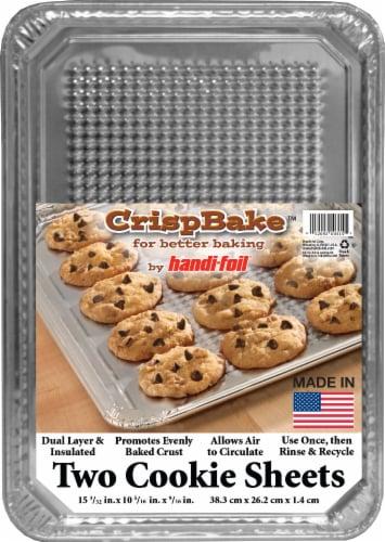 Handi-foil® CrispBake® Cookie Sheet - Silver Perspective: front