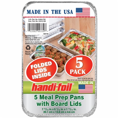 Handi-foil® Storage Containers and Board Lids - Silver Perspective: front