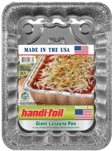 Handi-foil® Eco-Foil® Giant Lasagna Pan - Silver Perspective: front
