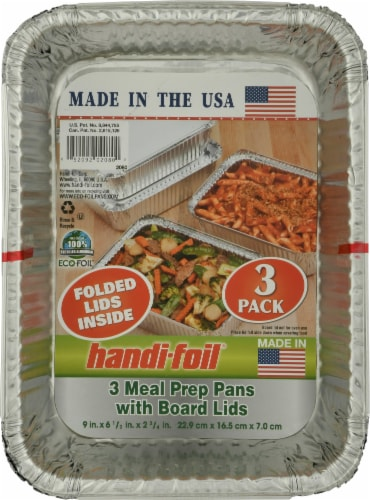 Handi-foil® Deep Storage Containers and Board Lids - Silver Perspective: front
