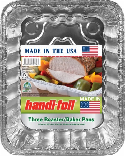 Handi-foil® Eco-Foil Roaster Baker Pans Perspective: front