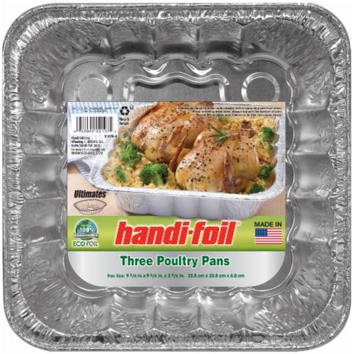 Handi-foil® Eco-Foil® Poultry Pans - Silver Perspective: front