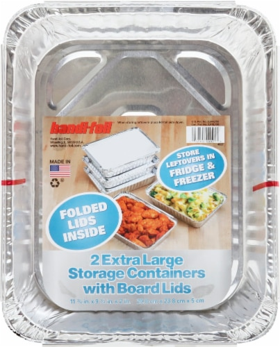 Handi-foil® Extra Large Storage with Folded Lids Perspective: front