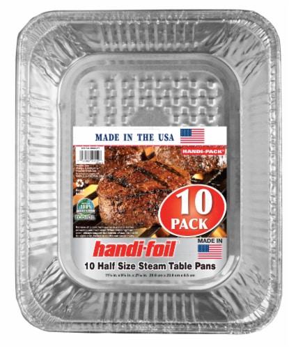 Handi-foil® Eco-Foil® Half-Size Steam Table Pans - Silver Perspective: front