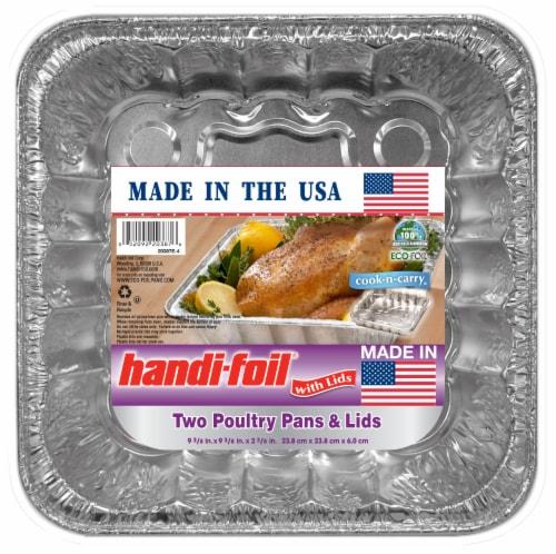 Handi-foil® Cook-n-Carry® Poultry Pans & Lids - Silver Perspective: front