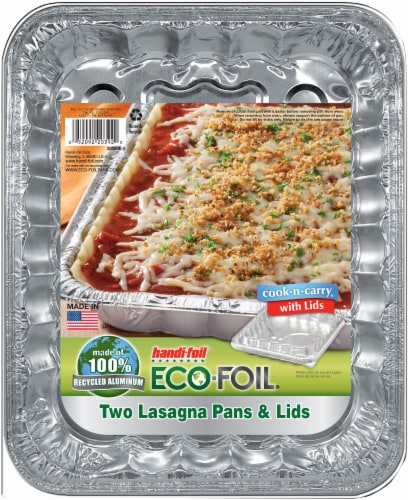 Handi-foil® Cook-n-Carry® Lasagna Pans and Lids - Silver Perspective: front