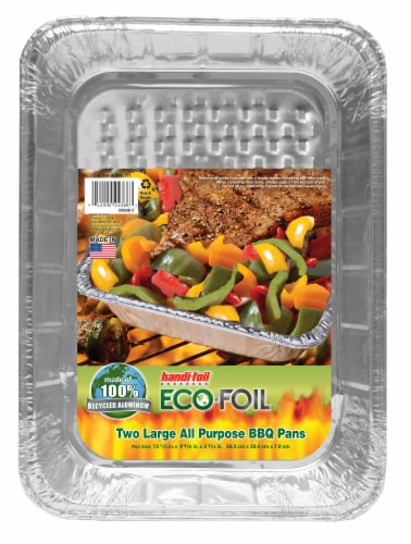 Handi-foil® Eco-Foil® All Purpose Barbecue Pans - Silver Perspective: front
