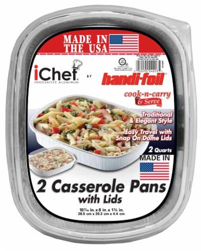 Handi-foil® iChef Casserole Pans with Lids Perspective: front
