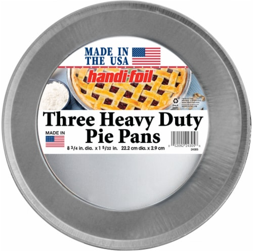 Handi-foil® Heavy Duty Pie Pans - 3 Pack - Silver Perspective: front