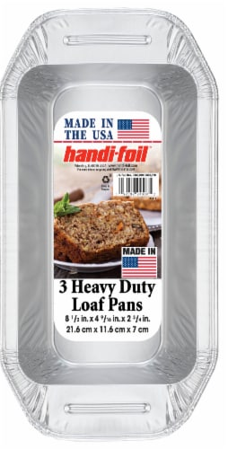 Handi-foil® Heavy Duty Loaf Pans - Silver Perspective: front