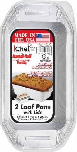 Handi-foil® iChef Loaf Pans & Lids - 2 Pack Perspective: front