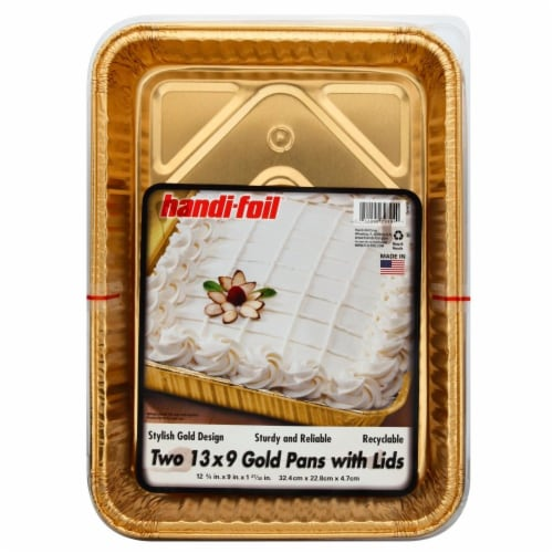 Handi-foil® Pans and Lids - Gold Perspective: front