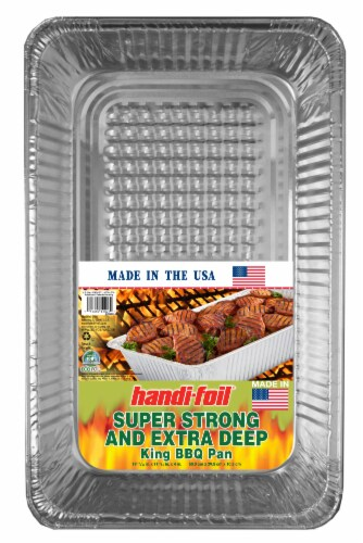 Handi-foil® Super Strong/Extra Deep King BBQ Pan Perspective: front