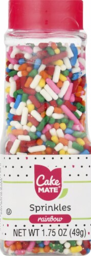 Cake Mate Decors Rainbow Sprinkles Perspective: front