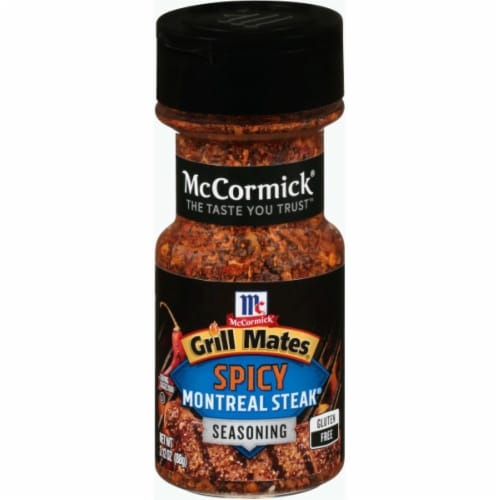 McCormick Grill Mates Spicy Montreal Steak Seasoning Shaker Perspective: front