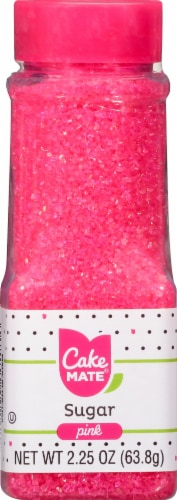 Cake Mate Pink Sugar Crystals Perspective: front