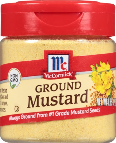 McCormick Ground Mustard Shaker Perspective: front