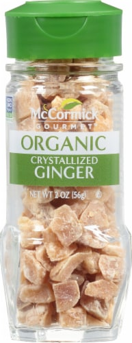 McCormick Gourmet Organic Crystallized Ginger Shaker Perspective: front