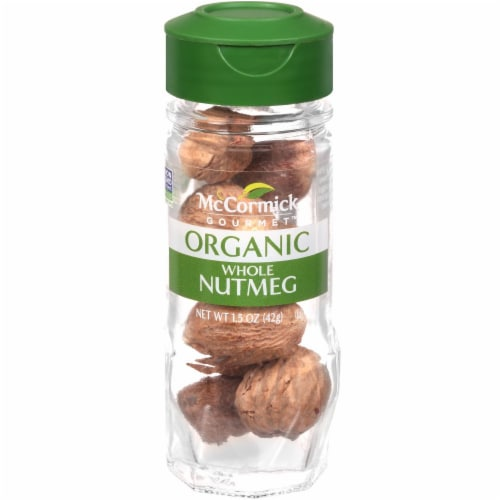 McCormick Gourmet Organic Whole Nutmeg Perspective: front