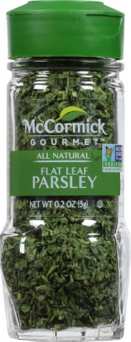 McCormick Gourmet All Natural Flat Leaf Parsley Shaker Perspective: front