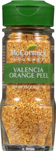 McCormick Gourmet Collection Valencia Orange Peel Jar Shaker Perspective: front