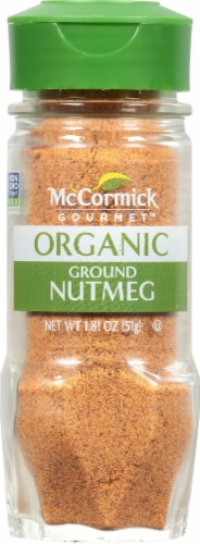McCormick Gourmet Organic Ground Nutmeg Shaker Perspective: front