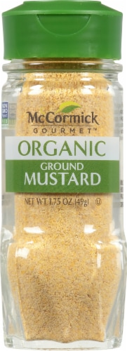 McCormick Gourmet Organic Ground Mustard Perspective: front