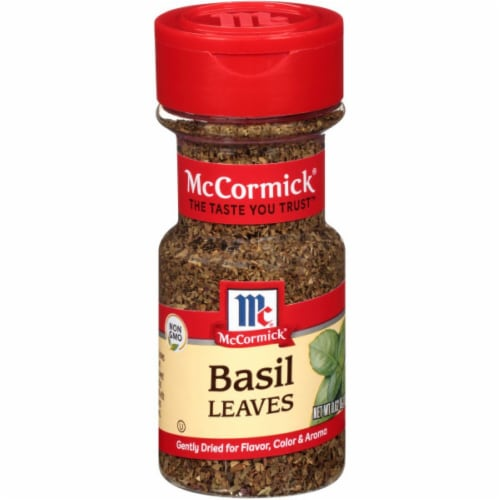McCormick Basil Leaves Shaker Perspective: front