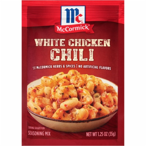McCormick White Chicken Chili Seasoning Mix Perspective: front