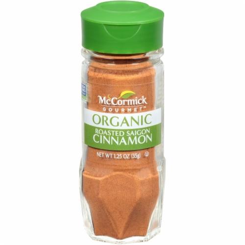 McCormick Gourmet Organic Roasted Saigon Cinnamon Shaker Perspective: front