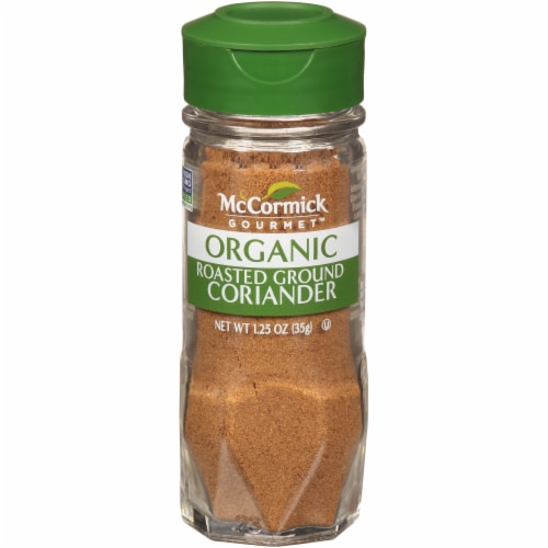 McCormick Gourmet All Natural Roasted Ground Coriander Shaker Perspective: front