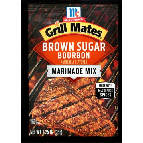 McCormick Grill Mates Brown Sugar Bourbon Marinade Mix Perspective: front