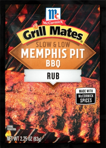 McCormick Grill Mates Slow & Low Memphis Pit BBQ Rub Perspective: front