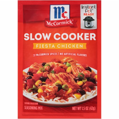 McCormick Slow Cookers Fiesta Chicken Seasoning Mix Perspective: front