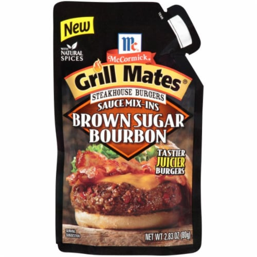 McCormick Grill Mates Brown Sugar Bourbon Sauce Mix-Ins Perspective: front
