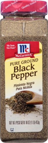 McCormick Pure Ground Black Pepper Perspective: front