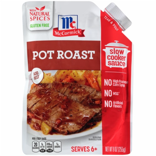 McCormick Pot Roast Slow Cooker Sauce Pouch Perspective: front